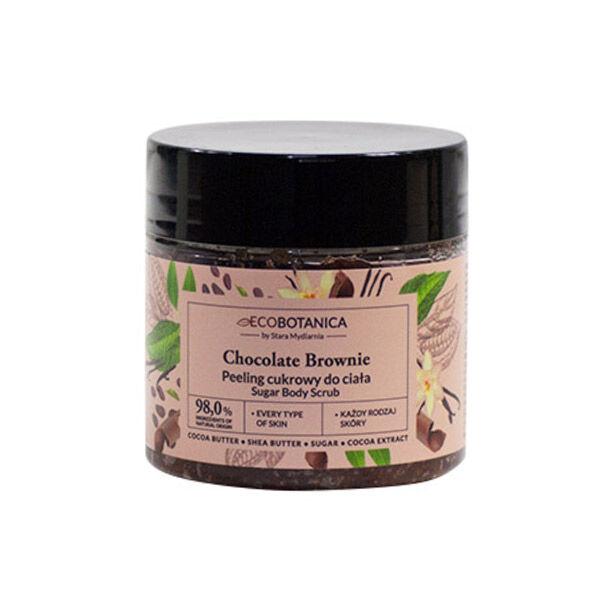 Eco Botanica Chocolat Brownie Gommage Corps au Sucre 200ml