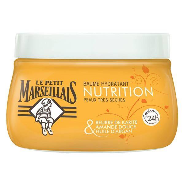 Le Petit Marseillais Baume Hydratant Nutrition Karité Amande Douce et Argan 250ml