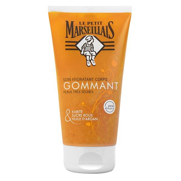 Le Petit Marseillais Soin Hydratant Corps Gommant Karité, Sucre Roux et Argan 150ml