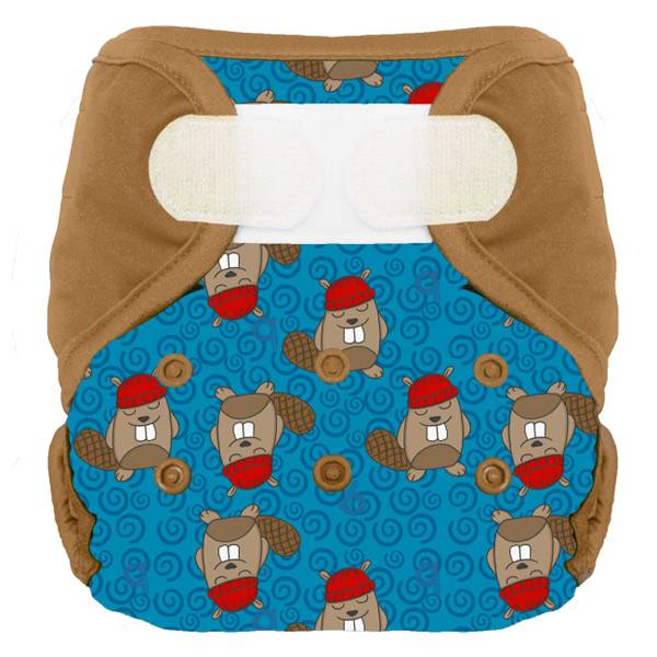 Bumdiapers Couche Lavable + 1 Insert Hector le Castor 0-3 ans