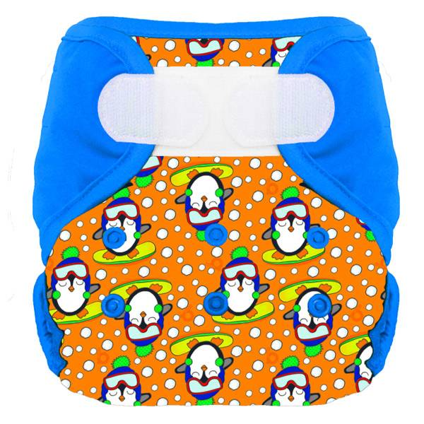 Bumdiapers Couche Lavable + 1 Insert Firmin le Pingouin 0-3 ans