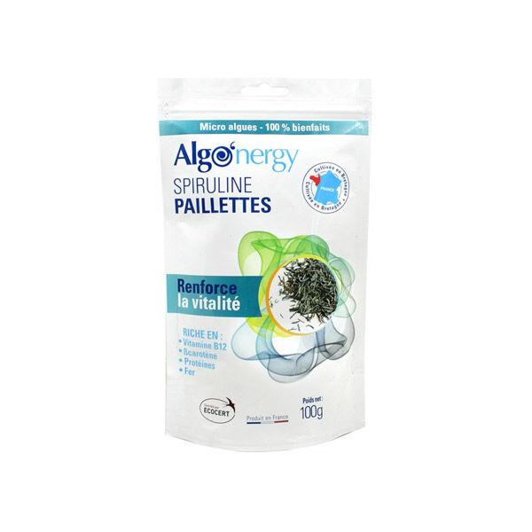Algonergy Spiruline Française Bio Paillettes 100g