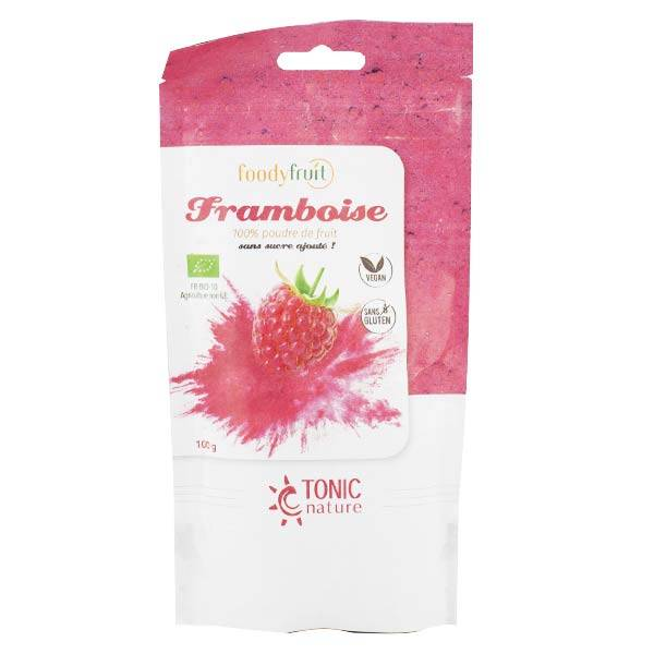 Tonic Nature Foodyfruit Framboise 100% Poudre de Fruit Bio 100g