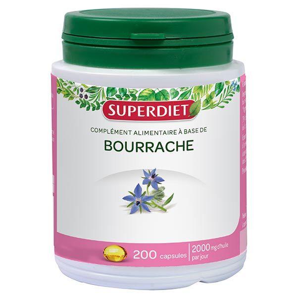 Superdiet Huile de Bourrache 200 capsules