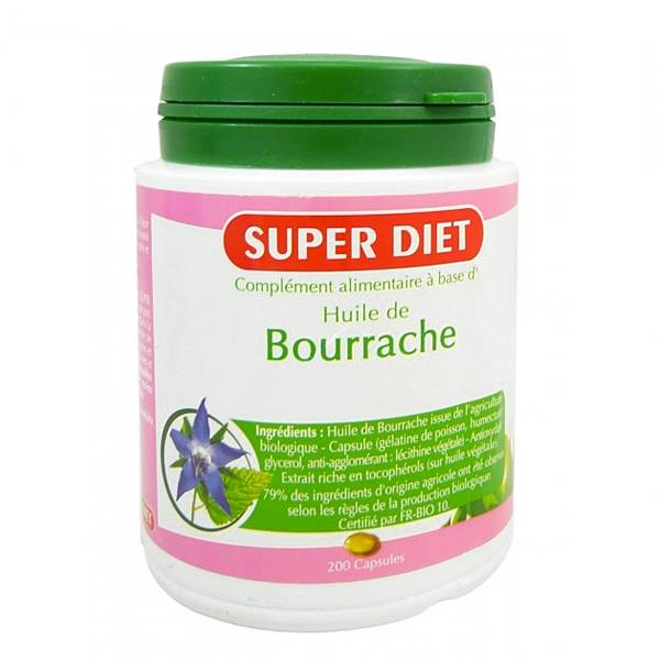 Super Diet Huile de Bourrache - 200 capsules