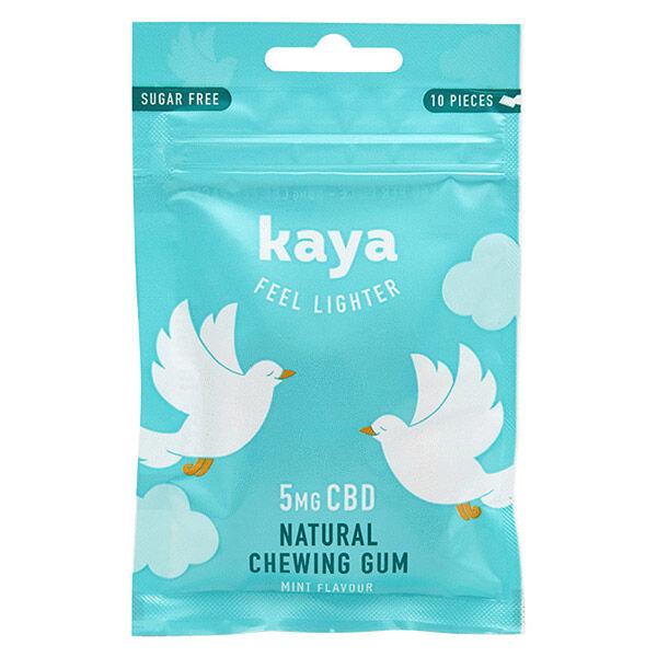 Kaya Anxiété et Sautes d'Humeur Chewing-Gum Naturel Relaxant CBD 5mg 10 unités