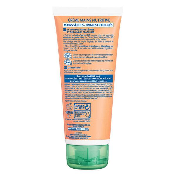 Mixa Crème Mains Nutritive Mains Sèches Ongles Fragilisés Bio 100ml