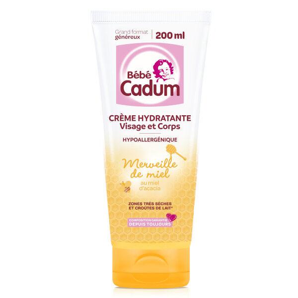 Cadum Bébé Merveille de Miel Crème Hydratante Protectrice Corps et Visage 200ml