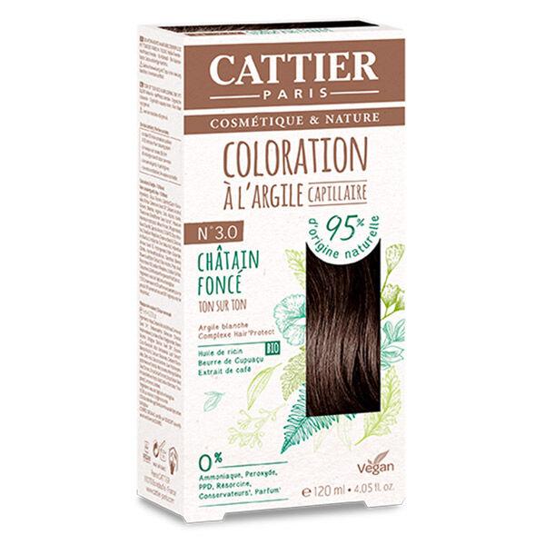 Cattier Coloration Ton sur Ton Châtain Foncé 3.0 120ml