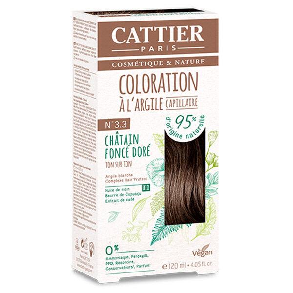 Cattier Coloration Ton sur Ton Châtain Foncé Doré 3.3 120ml