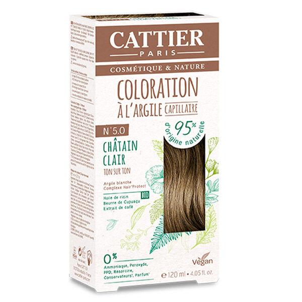 Cattier Coloration Ton sur Ton Châtain Clair 5.0 120ml