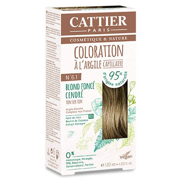 Cattier Coloration Ton sur Ton Blond Foncé Cendré 6.1 120ml