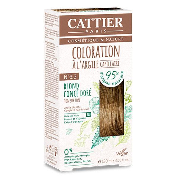 Cattier Coloration Ton sur Ton Blond Foncé Doré 6.3 120ml