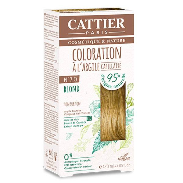 Cattier Coloration Ton sur Ton Blond 7.0 120ml