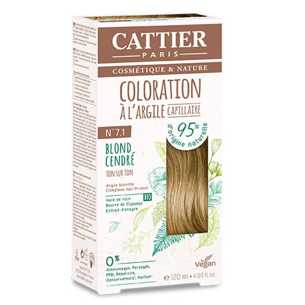 Cattier Coloration Ton sur Ton Blond Cendré 7.1 120ml