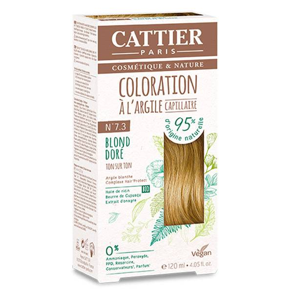 Cattier Coloration Ton sur Ton Blond Doré 7.3 120ml