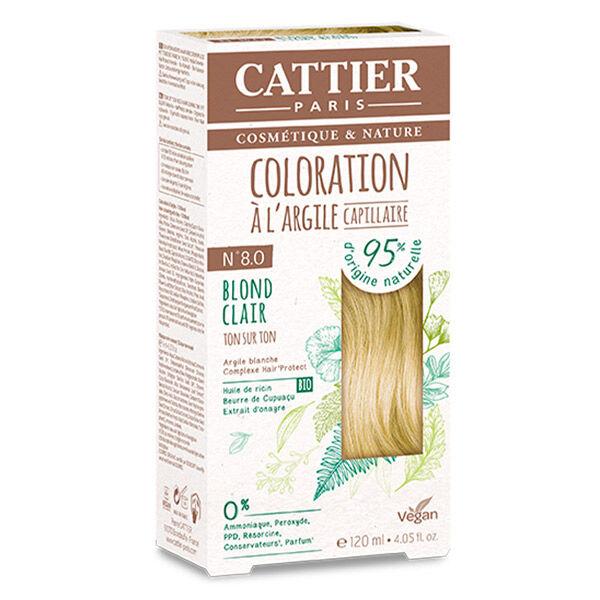 Cattier Coloration Ton sur Ton Blond Clair 8.0 120ml