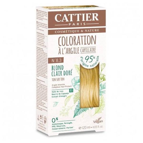 Cattier Coloration Capillaire N8.3 Blond Clair Doré 120ml