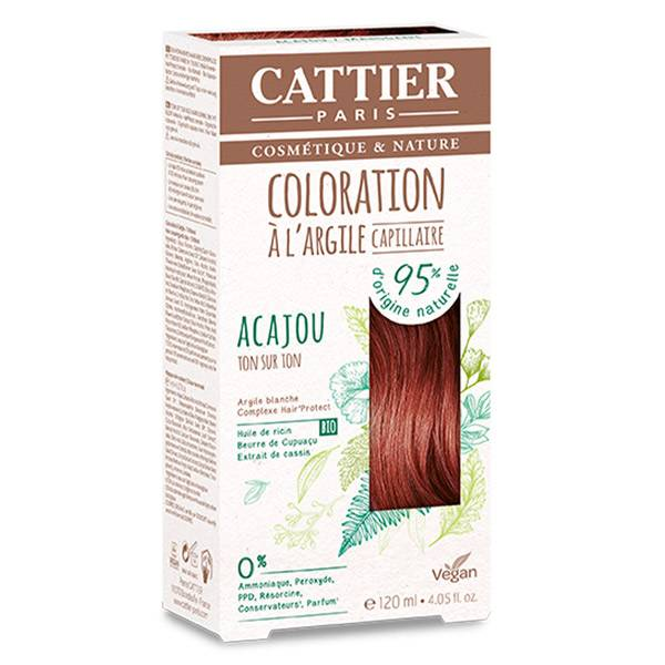 Cattier Coloration Capillaire Acajou 120ml