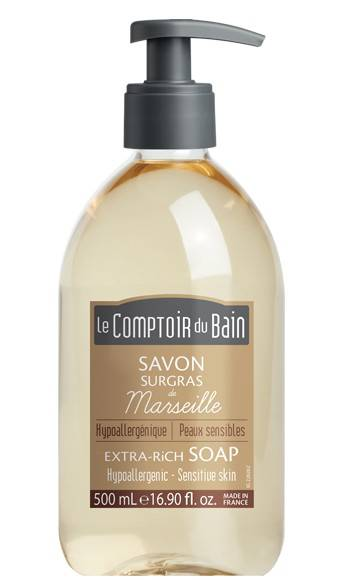 Le Comptoir du Bain Savon Traditionnel de Marseille Nature Surgras 500ml