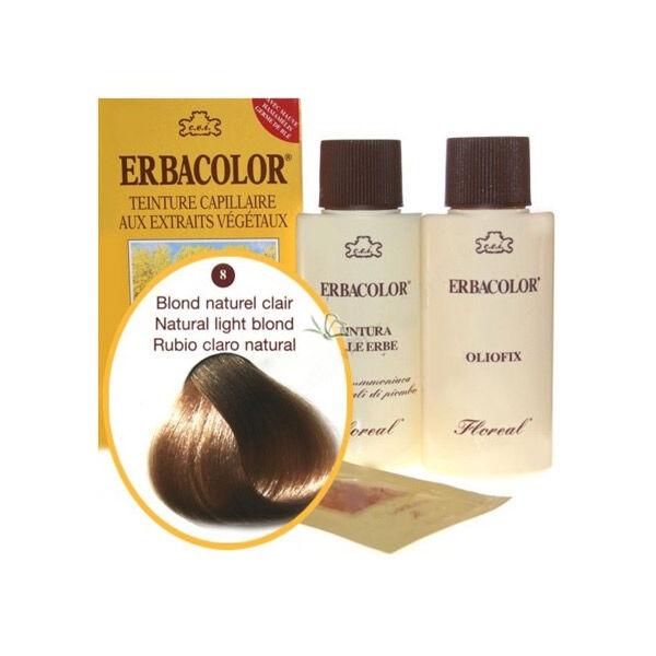 Erbacolor Coloration Blond Naturel Clair 8