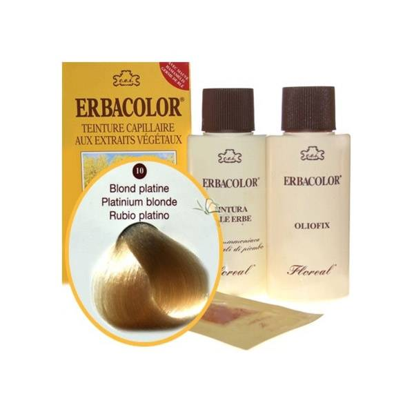 Erbacolor Coloration Blond Platine 10