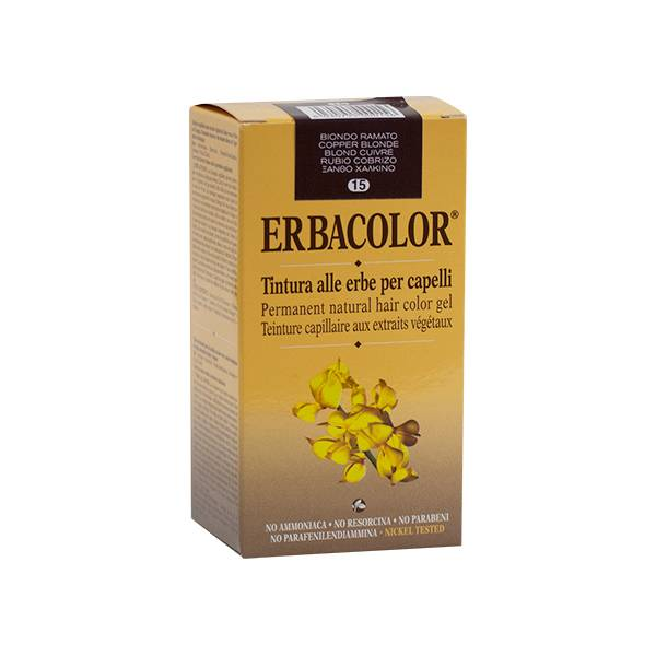 Erbacolor Coloration Blond Cuivré 15