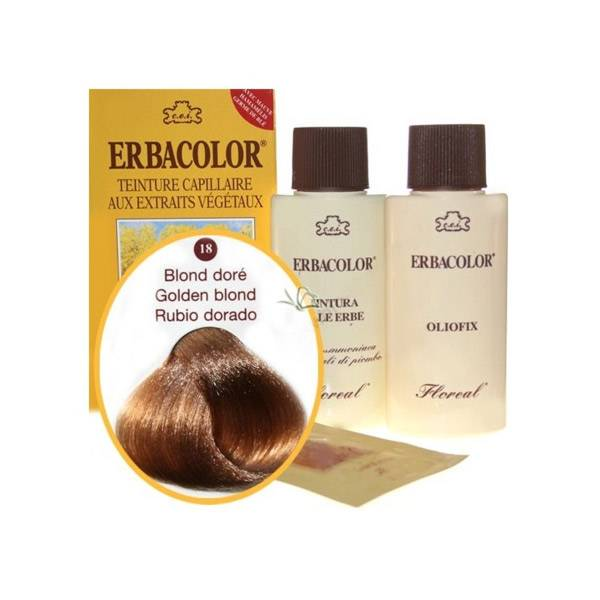 Erbacolor Coloration Blond Doré 18