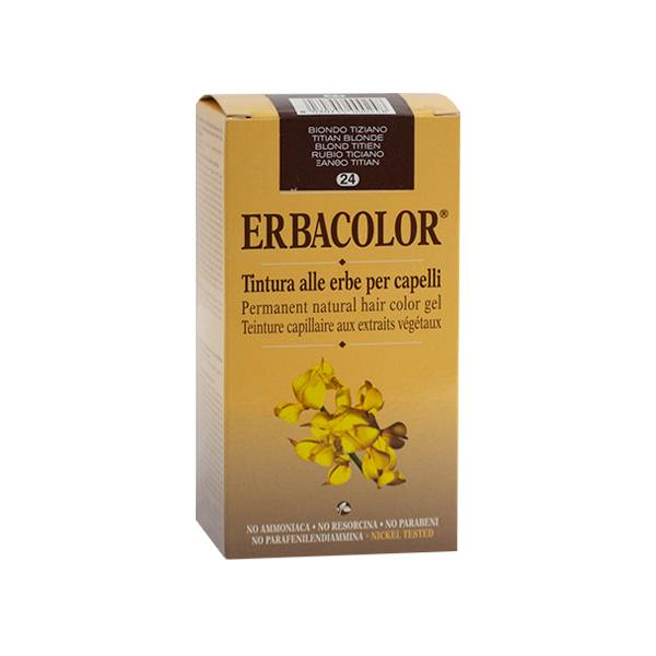 Erbacolor Coloration Blond Titien 24