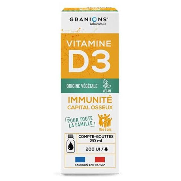 Laboratoire des Granions Granions Vitamine D3 Gouttes 20ml