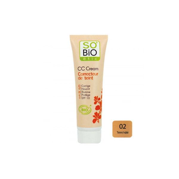 So Bio Etic CC Cream Correcteur de Teint 5 en 1 02 Teint Hâlé 30ml