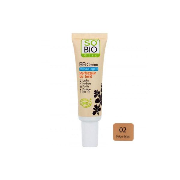 So Bio Etic BB Cream Texture Légère Perfecteur de Teint 5 en 1 02 Beige Éclat 30ml
