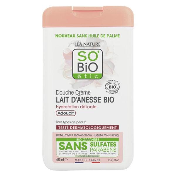 So'Bio Étic Douche Crème Hydratation Lait d'Ânesse Bio 450ml