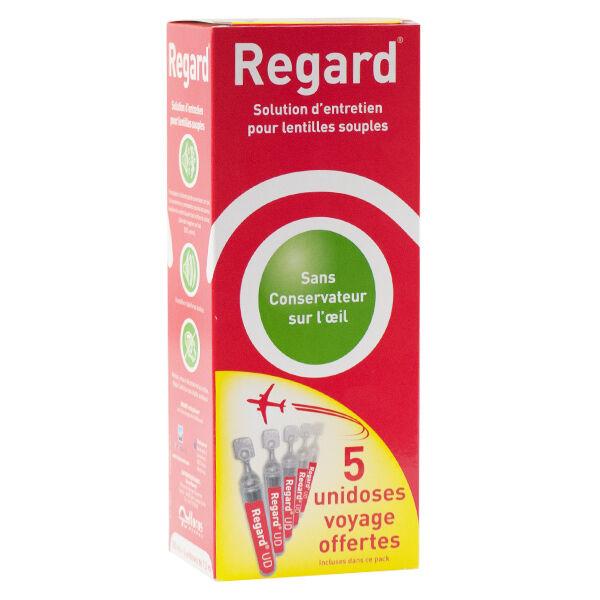 Regard Solution d'Entretien pour Lentilles Souples 355ml + étui + 5 unidoses