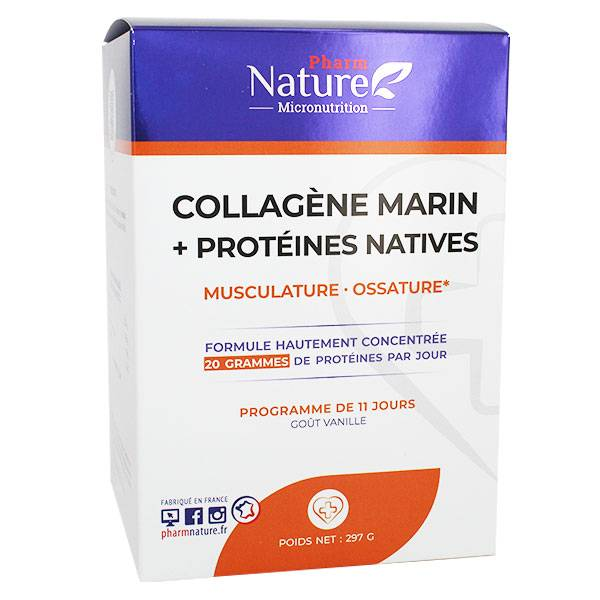 Nature Attitude Collagène Marin + Protéines Natives 297g