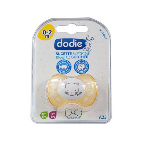 Dodie Sucette Naissance Anatomique Silicone Chat 0-2 Mois A23
