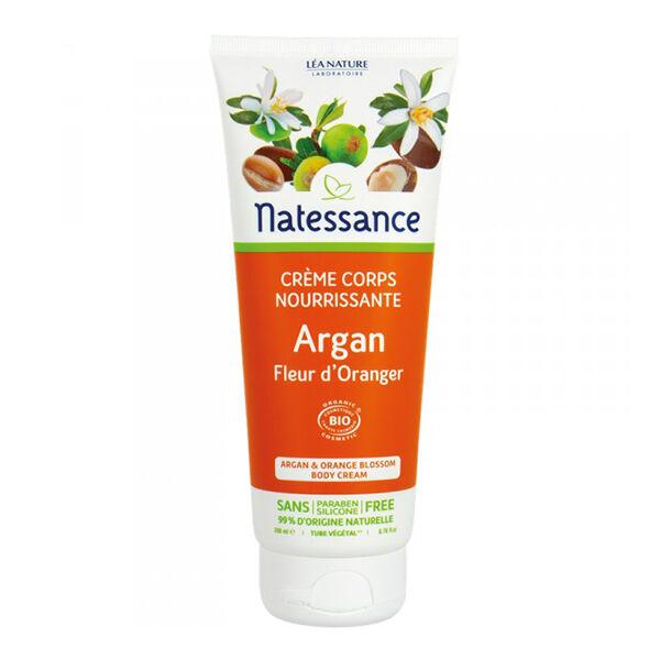 Natessance Crème Corps Nourrissante Argan Fleur d'Oranger Bio 200ml
