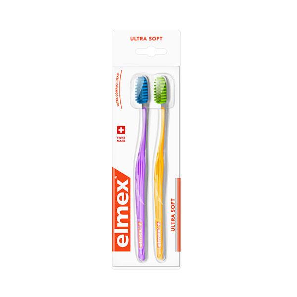 Elmex Brosse à Dents Ultra Soft Lot de 2
