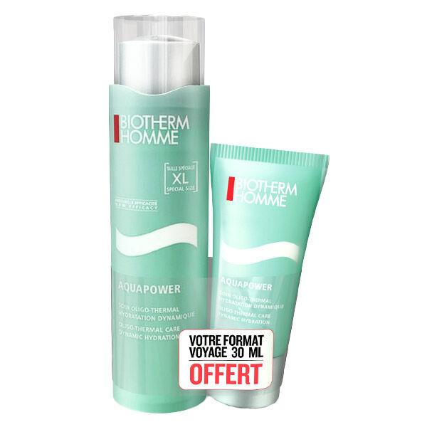 Biotherm Homme Aquapower Soin Oligo-Thermal Crème Visage Super Hydratante 100ml + Format 30ml Offert