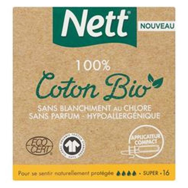 Vania Nett Bio Tampons Super avec Applicateur 16 unités