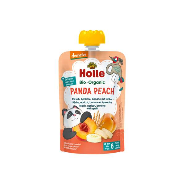 Holle Gourde Pouchy Pêche Abricot Banane Epeautre +8m 100g