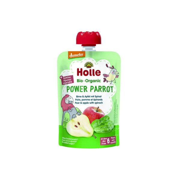 Holle Gourde Pouchy Poire Pomme Épinards Bio +6m 100g