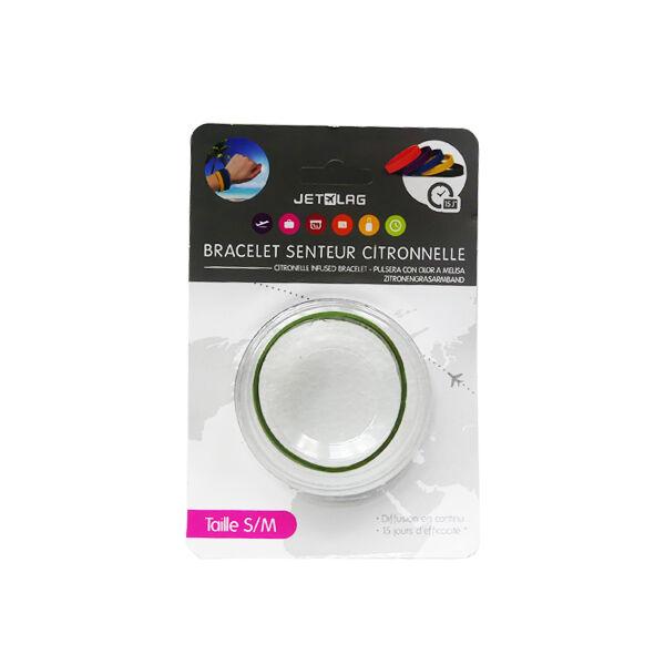 Bracelet Citronnelle Silicone Kaki Taille S/M