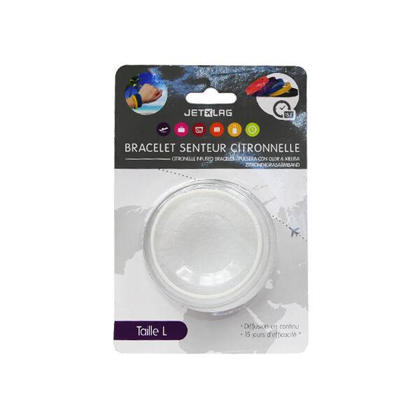 Bracelet Citronnelle Silicone Blanc Taille L