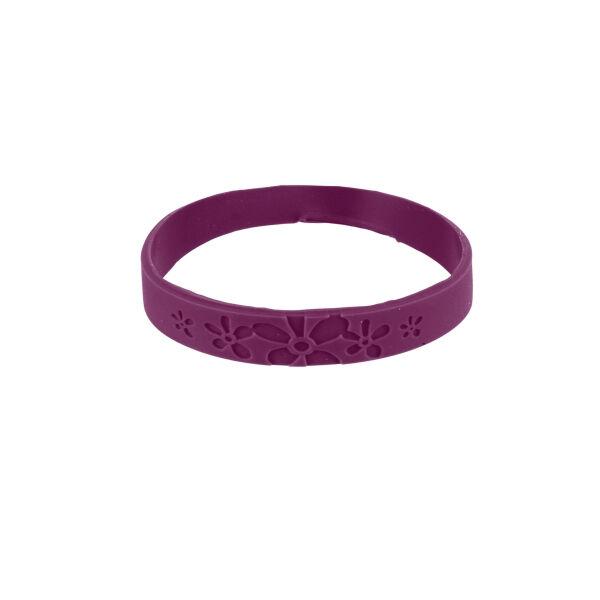 Bracelet Citronnelle Silicone Violet Taille L