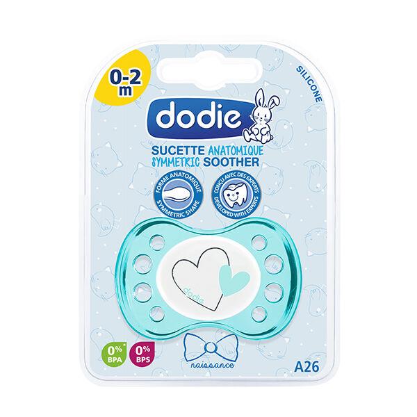 Dodie Sucette Naissance Anatomique Silicone Coeur Bleu 0-2 Mois A26