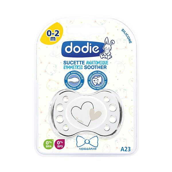 Dodie Sucette Naissance Anatomique Silicone Coeur 0-2 Mois A23