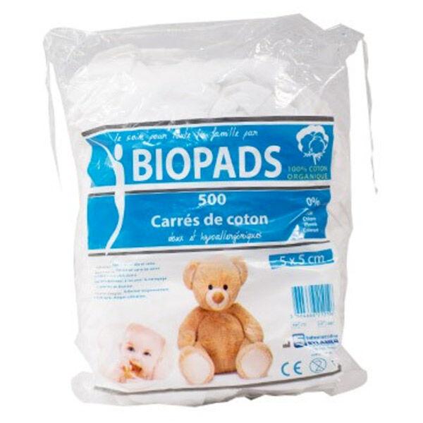 Sylamed Biopads Carrés de Coton 5 x 5cm 500 unités
