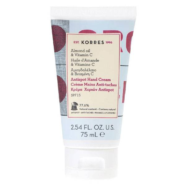 Korres Crème Mains Anti-Tâches Amande & Vitamines C SPF15 75ml