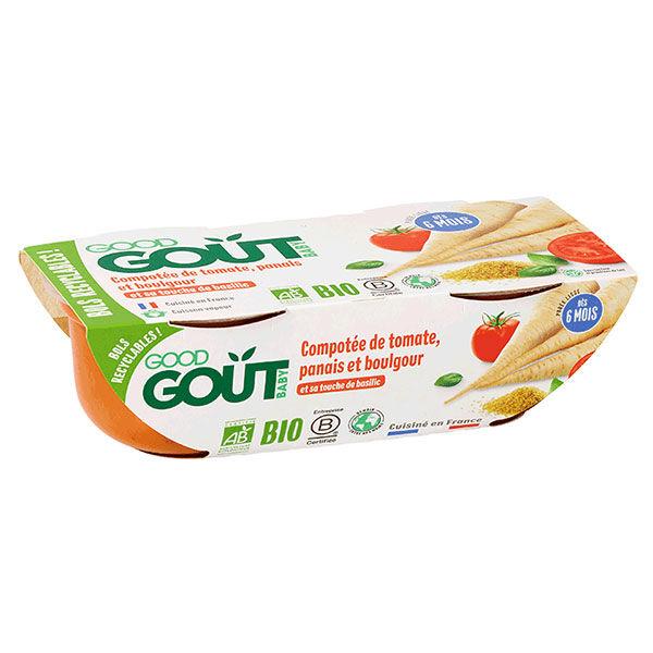 Good Goût Bol Compotée de Tomate Panais et Boulgour +6m Bio 2 x 190g
